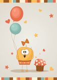 Cute happy birthday card. Royalty Free Stock Image