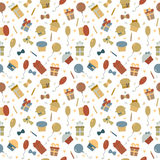 Cute Happy Birthday seamless pattern with colorful party element Stock Image