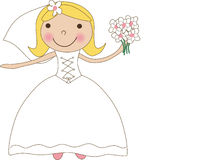 Cute happy bride Stock Photos