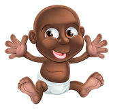 Cute happy cartoon baby Royalty Free Stock Photo