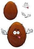 Cute happy cartoon coconut with a cheesy grin Stock Photography