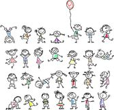 Cute happy cartoon kids,vector Royalty Free Stock Images