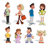 Cute happy cartoon people Royalty Free Stock Photo