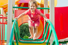 Cute happy child girl on playground Royalty Free Stock Photography