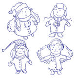 Cute happy children Royalty Free Stock Images