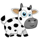Cute happy cow. Vector illustration of a cute happy cartoon cow stock illustration