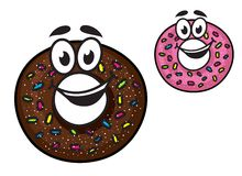 Cute happy doughnuts Royalty Free Stock Images