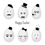 Cute Happy Easter card illustration. Stock Photo