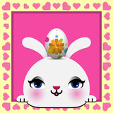 Cute Happy Easter card Royalty Free Stock Photography