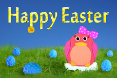Happy Easter Penguin Bird Stock Photos