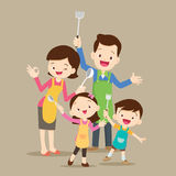 Cute happy family cooking Stock Photography