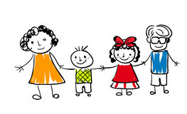 Cute happy family Stock Image