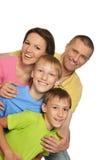 Cute happy family Stock Photos