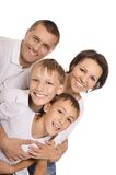 Cute happy family Stock Images