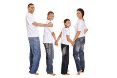 Cute happy family Royalty Free Stock Images