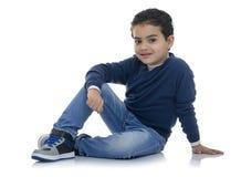 Cute Happy Fashion Boy Stock Photo