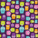 Cute Happy Flying Aliens, Seamless Pattern. A seamless background pattern of happy, floating, cartoon, vector aliens.  The file is easily editable, with Royalty Free Stock Photography