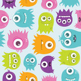 Cute Happy Flying Aliens, Seamless Tile Stock Photos