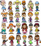 Cute happy kids,vector Royalty Free Stock Photography