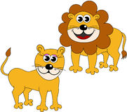 Cute Happy Lioness Lion Cartoon Stock Photos