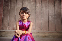 Cute and happy little Asian girl smiling at camera Royalty Free Stock Photo