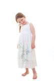 Cute happy little girl stock images