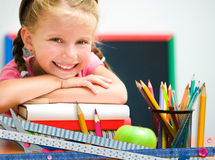 Cute happy little girl Stock Photo
