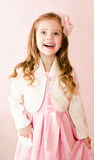 Cute happy little girl  in princess dress Royalty Free Stock Photo