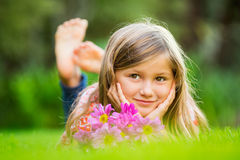 Cute happy little girl Stock Photography