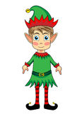 Cute and happy looking christmas elf Stock Photos