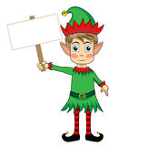 Cute and happy looking christmas elf  Stock Photography