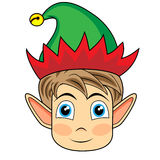 Cute and happy looking face of a christmas elf Stock Photo