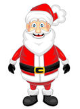 Cute happy looking santa claus standing alone Stock Photos