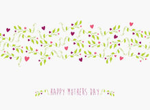 Cute Happy Mothers day seamless pattern Stock Photos