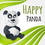 Cute happy panda character Royalty Free Stock Image