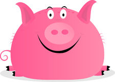 Cute happy pig. Vector illustration Royalty Free Stock Photo