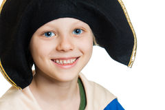 Cute happy pirate boy Royalty Free Stock Photography