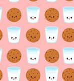 Cute happy smiling chocolate chip royalty free illustration