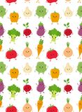 Cute happy smiling raw vegetable collection Royalty Free Stock Photography