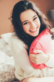 Cute and happy teen girl in love Royalty Free Stock Photos