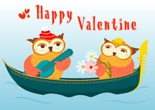 Cute Happy Valentine Card Stock Photos