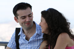 Cute happy young couple Royalty Free Stock Photo