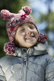 Cute Happy Young Girl In Warm Clothes Royalty Free Stock Image