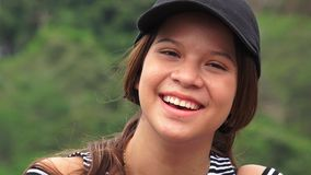 Cute Happy Young Person. Young attractive teen Colombia girl royalty free stock photography