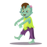 Cute happy zombie boy. Royalty Free Stock Images