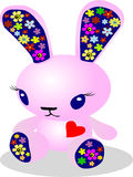 Cute hare. Vector illustration,cute hare,flover Stock Image