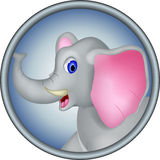 Cute head elephant cartoon Royalty Free Stock Images