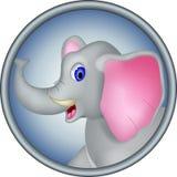 Cute head elephant cartoon Royalty Free Stock Images