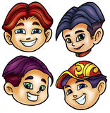Cute heads Stock Images