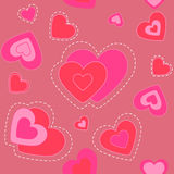 Cute heart. background.seamless texture. Royalty Free Stock Images